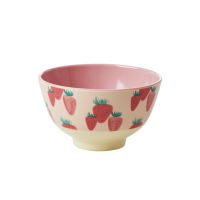 Strawberry Print Small Melamine Bowl By Rice DK