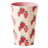 Strawberry Print Tall Melamine Cup By Rice DK