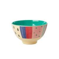 Louise's Stripe Print Small Melamine Bowl Rice DK