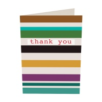 Striped Pack of 10 Thank You Cards By Caroline Gardner