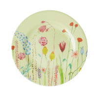 Summer Flower Print Melamine Side Plate or Lunch Plate By Rice DK