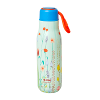 Summer Flower  Print Stainless Steel Water Bottle By Rice DK