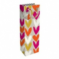 Summer Heart Print Bottle Gift Bag By Caroline Gardner