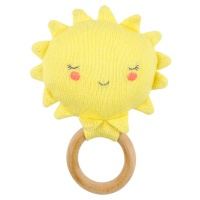 Sun Shaped Baby Rattle By Meri Meri