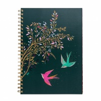 Swallow Print A4 Notebook By Sara Miller
