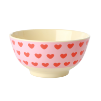 Sweet Heart Print Melamine Bowl By Rice DK