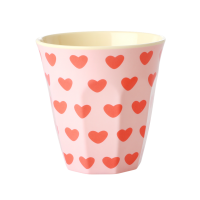 Sweet Heart Print Melamine Cup By Rice DK