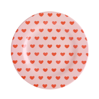 Sweet Heart Print Melamine Side Plate By Rice DK