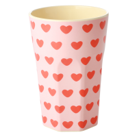 Sweet Heart Print Melamine Tall Cup By Rice DK