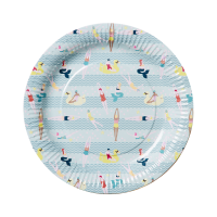 Swim Print Set of 8 Paper Plates By Rice DK