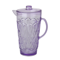 Large Lavender Swirly Embossed Acrylic Jug With Lid Rice