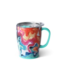 Colourful Swirl Print 18oz Mug By SWIG