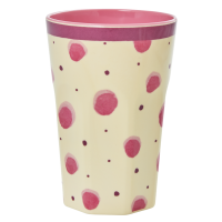 Pink Watercolour Splash Print Tall Melamine Cup Rice DK
