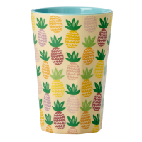 Tall Melamine Cup With Pineapple Print By Rice DK