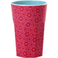 Rice DK Red & Pink Print Tall Melamine Cup