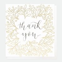 Thank You Card By Caroline Gardner with Gold Foil
