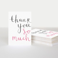 Thank You So Much Cards Pack of 10 By Caroline Gardner