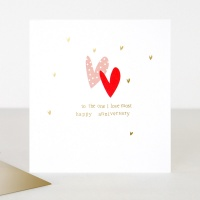 To The One I Love Most Anniversary Card by Caroline Gardner