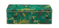 Toucan Print Long Rectangular Storage Tin By Sara Miller London