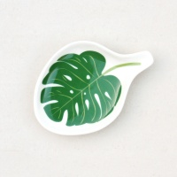 Tropical Palm Leaf Shaped Trinket Bowl By Caroline Gardner
