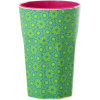 Rice DK Green & Turquoise Tall Melamine Cup