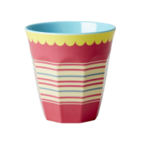 Rice DK, Coral Two Tone Striped Melamine Cup