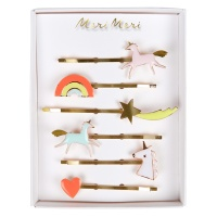 Unicorn Enamel Hairclips By Meri Meri