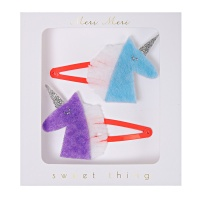 Unicorn Felt Hair Clips By Meri Meri