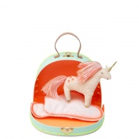 Mini Unicorn Doll with Rainbow Suitcase By Meri Meri