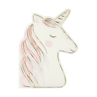 Unicorn Shaped Paper Napkins By Meri Meri