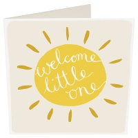 Welcome Little One New Baby Card By Caroline Gardner
