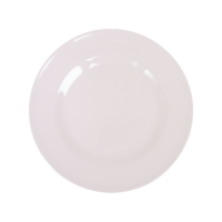 White Melamine Side Plate or Kids Plate By Rice DK