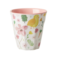 White Easter Print Melamine Cup Rice DK