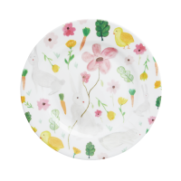 White Easter Print Melamine Side Plate By Rice DK