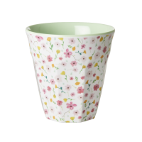 White Flower Print Melamine Cup By Rice DK