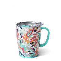 Wild Flower Print 18oz Insulated Coffee Mug By SWIG
