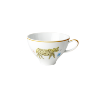 Porcelain Teacup With Wild Leopard Print By Rice DK