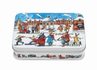 Winter Scene Print Small Rectangular Tin Emma Bridgewater