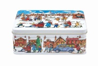 Winter Scene Print Rectangular Tin Emma Bridgewater