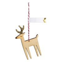Reindeer Wooden Gift Tags Set of 8 By Meri Meri