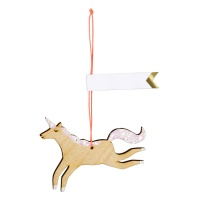Unicorn Shaped Wooden Gift Tags Set of 8 By Meri Meri