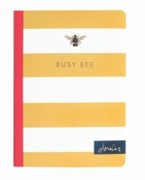 Yellow Striped Bee Print  A6 Slim Notebook By Joules