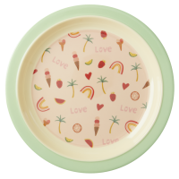 You Go Girl Print Kids Melamine Plate Rice DK