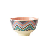 Zig Zag Print Small Melamine Bowl By Rice DK