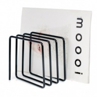 Desktop Black Metal Magazine Rack By Block Design
