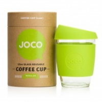 Joco glass reusable colourful coffee cup in lime