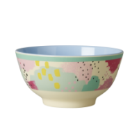 Colourful Splash Print Melamine Bowl Rice DK
