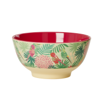 Tropical Print Two Tone Melamine Bowl By Rice DK