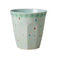 Colourful Raindot Print Melamine Cup Rice DK