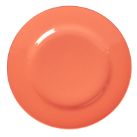 Pastel Neon Coral Melamine Dinner Plate by Rice DK